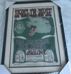 Howlinand039 Wolf 1966 Concert Poster - Mouse - Avalon Ballroom Op2 1st Print Framed