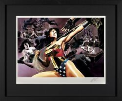 Dc Comics - Wonder Woman - Hand Signed By Alex Ross. Boxed Canvas Framed