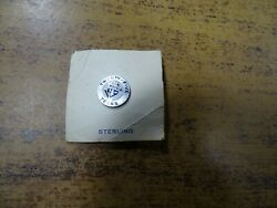 Knights Of Columbus, 25 Year Pin K Of C, Lapel Pin Sterling Silver