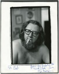 Ted Berrigan / Autographed Photo Signed 1982