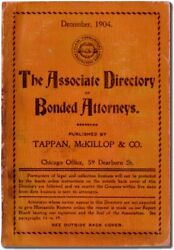 Associate Directory Of Bonded Attorneys December 1904 / First Edition