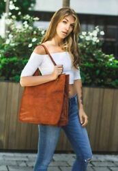 Shoulder Tote Girls Open Bag Retro Leather Fancy Shopper Purse Classic Satchel $43.99