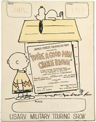 Charles Schulz / Poster Armed Forces Theatre Vietnam Presents Youand039re Good Man