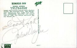 John Wayne Hand Signed Vintage 1960and039s Autograph Postcard With Full Jsa Letter