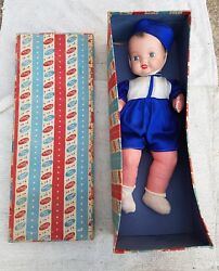 1940and039s Vintage Beauticraft 15.5 Porzellan And Tuch Kidartand039s Puppe Toy Germany