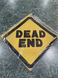Vintage Foam Decorator Signs Dead End Street Sign New In Package
