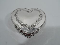 Hayward And Sweet Jewelry Box - Valentineand039s Day Heart - American Sterling Silver