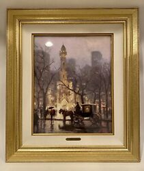 Thomas Kinkade - The Water Tower, Chicago Canvas 493/1850 - Signed And Framed