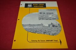 Oliver Tractor Iron Age Row Crop Sprayers Brochure Fcca