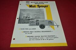 Oliver Tractor Iron Age Orchard Mist Sprayers Brochure Fcca