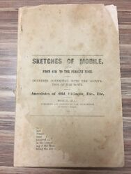 Rare 1868 Sketches Of Mobile Alabama, Incidents Occupation Of Town Citizens 1st