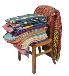 Vintage Kantha Quilts Reversible Heavy Gudri Throws Rally Wholesale Lot 25 Pcs