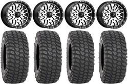 Msa Machined Brute 14 Atv Wheels 30 Xcr350 Tires Can-am Renegade Outlander