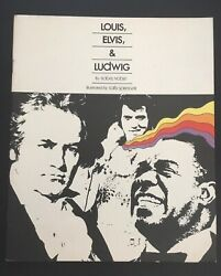 Elvis 1975 Childrens Book Of Louis Armstrong Elvis Presley And Ludwig Beethoven