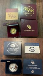 End Of World War Ii 75th Anniversary Gold Medal And V75 American Silver Eagle