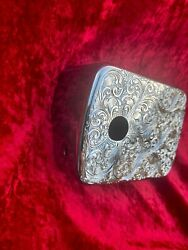 Harley Davidson Custom Hand Engraved Chrome Coil/ignition Switch Housing