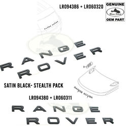 Land Rover Decal Hood+tail Set Satin Black / Stealth Pack Rr Sport 14-20 Rov0183
