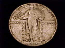 1923-s Standing Liberty Quarter, Extra Fine Grade With Full 4 Digit Date.