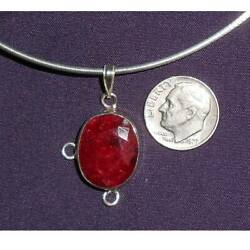 Real Ruby Sterling Silver Italian Necklace New Sj986-60
