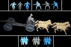 Civil War 4 Horse Limber Cannon Driver Cts Marx 54mm Toy Soldiers Choose Driver