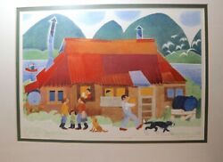 original 1988 Limited Edition Rie Munoz signed numbered blue moon Cafe art print