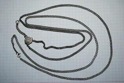 Antique Russian Imperial Sterling Silver 84 Jewelry Long Chain Necklace 32.62 Gr