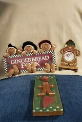 Gingerbread Wall Hanging Decorations with a Standing Gingerbread picture frame.
