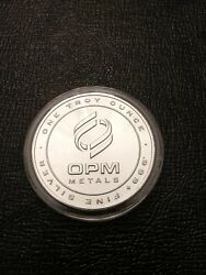 Opm Metals - 1-one Troy Ounce .999 Fine Silver Round - Made In The Usa - 7