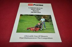 Toro Commercial Mid Size Walk Mowers For 1991 Brochure Fcca