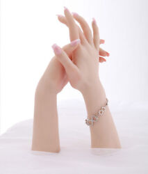 Silicone Female Mannequin Hands Arbitrarily Bent Posed Jewelery Display