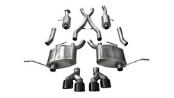 Corsa Performance 14992blk Exhaust Cat-back - 2.5in Dual Rear Exit