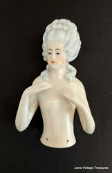 Antique Germany Half Doll, Pincushion Doll, Collectible, Marie Antoinette
