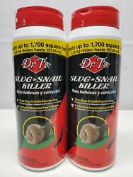 2 Dr. Tand039s Slug And Snail Killer 1 Lb Cans 1700 Sq Ft Coverage Each