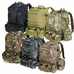 Outdoor Military Molle Tactical Backpack Rucksack Camping Travel Hiking Bag 55L $24.99
