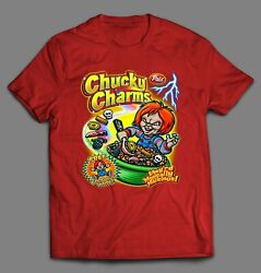 Chucky Charms Horror Movie Cereal Parody High Quality Shirt Many Options