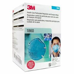 20-pieces 3m N95 Health Care Particulate Respirator Surgical Face Mask 1860