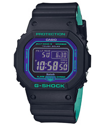 Casio G-shock Gw-b5600 Connect 90and039s Alarm Bluetooth Solar 200m Resin Band