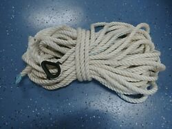 Anchor Rope Dock Line 5/8x 93and039 Twisted 3 Strand Nylon White Marine Mooring Boat