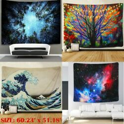 Psychedelic Mandala Flower Tapestry Hippie Wall Hanging Art Blanket Home Decor