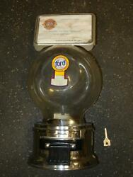 Ford Gumball Machine With Sign And Working Lock And Key Lions Club