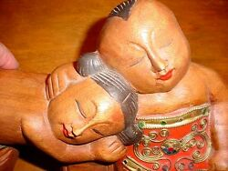 Happy Content Couple Estate Carving See Photos Asian Art