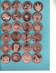 Mini Mintage Set Copper Round Lot Complete 155 Coins From Silver Shield