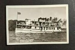 Mint Vintage SS Queen Full of People Spirit Lake Iowa RPPC Real Photo