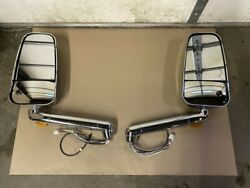 Ramco 1750 Series Convex Side Mirrors Chrome With Invue Camera Rv Coach Led Heat