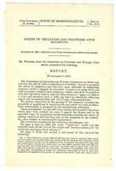 1902 Cmte. Interstate And Foreign Commerce Safety Of Railroad Employees/travelers