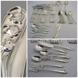 Lily Of The Valley By Gorham Sterling Silver Flatware 67 Pieces
