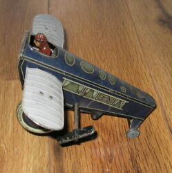 Rare Antique Gunthermann Sg Rollover Tin Windup Airplane Germany 1920and039s Plane