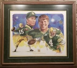 Brett Favre And Bart Starr Autohgraphed Photo