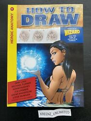 Signed By Andy Kubert - Wizard How To Draw Heroic Anatomy 1 Hardcover Book