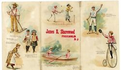 Freehold Nj Shoe Ad Early 1900.s 9 7/8 X 6 Bicycle Baseball Tennis